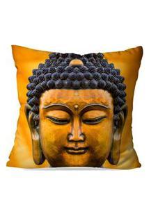 Capa De Almofada Avulsa Decorativa Buda Yellow 45X45Cm