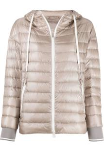 Herno Quilted-Down Hooded Jacket - Neutro