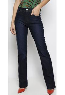 Jeans Marisa Slim Com Bordado- Azul Escuro- Forumforum