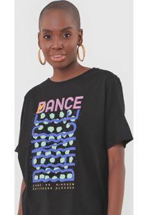 Camiseta Cantão Boyfriend Groove Preta