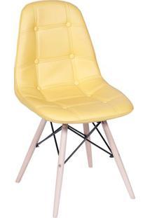 Cadeira Eames Botonãª- Amarela & Madeira Clara- 83X44Or Design
