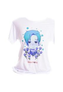 Camiseta Branca Prorider Bad Rose Personagem Autoral Nanami Nem Dip