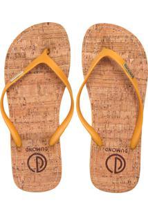 Chinelo Dumond Monograma Amarelo