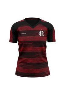 Camiseta Feminina Flamengo Motion Braziline - Vermelha