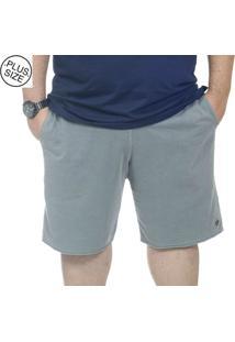 Bermuda Plus Size Moletinho Bigshirts - Cinza
