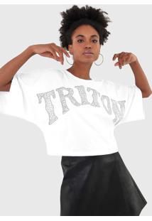 Camiseta Triton Aplicações Branca