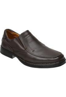 Sapato Doctor Pé Conforto Autêntico Couro De Carneiro 77001 - Masculino-Café