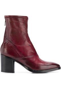 Alberto Fasciani Ankle Boot 'Ursula' De Couro - Vermelho