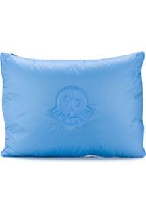 Moncler Clutch Matelassê Com Logo - Azul