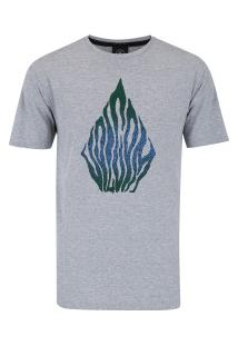 Camiseta Volcom Silk Blooms Day - Masculina - Cinza