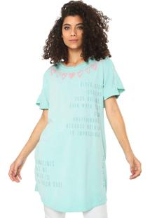 Camiseta My Favorite Thing(S) Alongada Verde