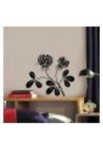 Adesivo De Parede Floral 57 - M 50X50Cm