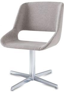 Cadeira Dife Assento Estofado Rustico Cru Base Fixa Em Aluminio - 55881 - Sun House