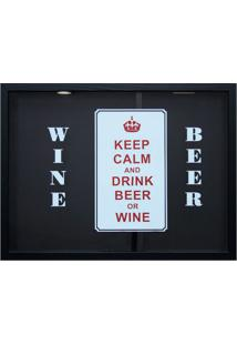 Quadro Duplo Keep Calm And Drink Beer Betume 30X40Cm