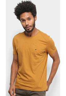 Camiseta Ellus Básica Masculina - Masculino-Caramelo