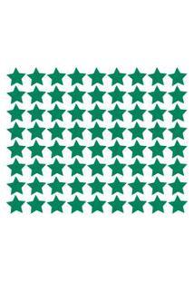 Adesivo De Parede Estrelas Verde Escuro 54Un