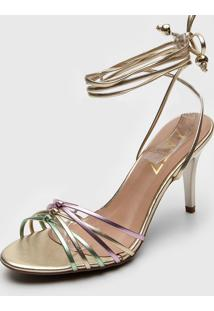 Sandália Zatz Metalizada Dourada