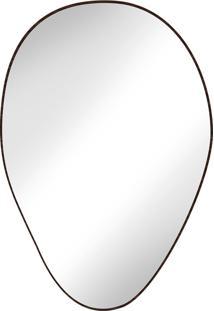 Espelho Tronco Louro Escuro - Cristal Liso