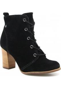 Bota Cravo E Canela Ankle Boot Em Camurça