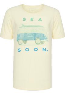 Camiseta Masculina Sea Soon - Amarelo