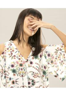 Blusa Naked Shoulder Estampa La Vida - Lez A Lez