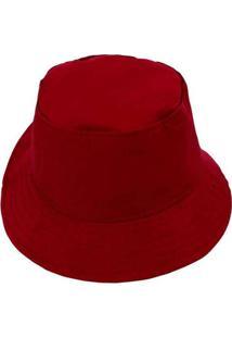 Chapéu Bucket Hat Liso Lilás Vermelho
