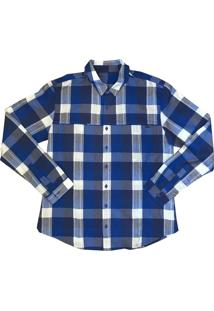 Camisa Salomon Chase Ls Masculino P Azul