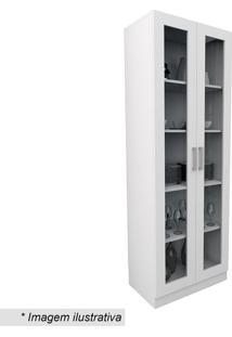 Armário Para Escritório Office Plus Com Portas- Branco