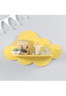 Prateleira Nuvem Amarela Mdf G 60Cm Grão De Gente Amarelo