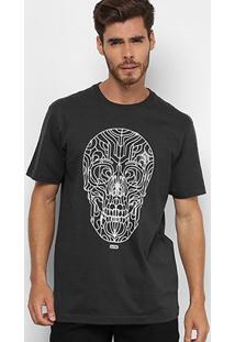 Camiseta Globe Básica Skull Glow Masculina - Masculino