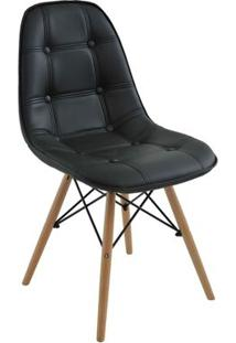 Cadeira Eames Eiffel Rivatti Sem Braço Botonê Preta