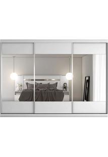 Guarda-Roupa Milano - 3 Portas - Com 3 Espelhos - 100% Mdf - Branco Acentinado Guarda-Roupa Milano - 3 Portas - Com 3 Espelhos - 100% Mdf - Branco Ace