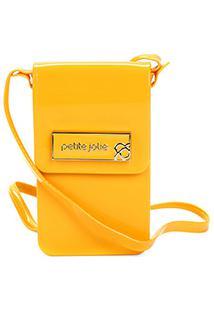 Bolsa Petite Jolie Mini Bag Verniz Feminina - Feminino-Amarelo