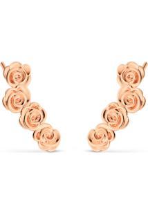 Brinco Life Ear Cuff Rosas