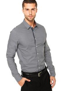 Camisa Calvin Klein Jeans Logo Cinza