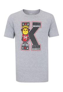 Camiseta Kings K - Masculina - Cinza
