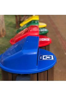 Lixeira Em Madeira Plástica 94L In Brasil Azul
