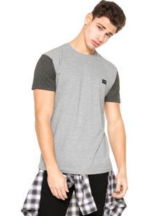 Camiseta Hang Loose Bicolor Cinza