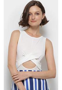 Body Mercatto Decote Central Transpassado - Feminino