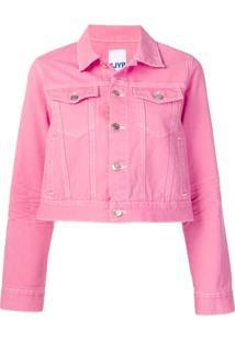Sjyp Cropped Denim Jacket - Rosa