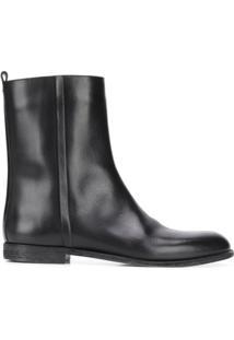 Maison Margiela Ankle Boot Com Zíper Lateral - Preto