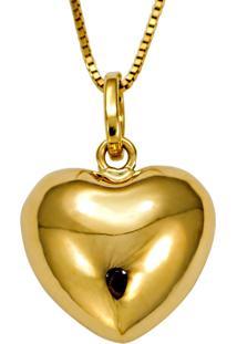 Anel Em Ouro Símbolo Do Infinito E Coração Com Zircônias - An15528