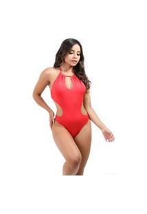 Maiô Galvic Engana Mamãe Body Moda Praia Rosa