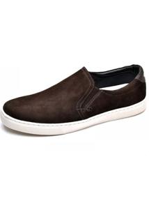 Sapatenis Masculino Slip On Top Franca Shoes Cafe