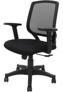 Cadeira Office Avila Cor Preto Encosto Tela Mesh Com Base Nylon - 45066 - Sun House