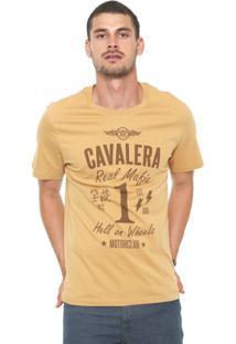 Camiseta Cavalera Máfia Bege