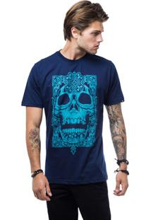Camiseta Zero Aztec Skull Masculina - Masculino