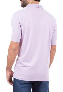 Camisa Colombo Polo Lilás Lisa