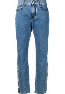 Karl Lagerfeld Calça Jeans Com Logo - Azul