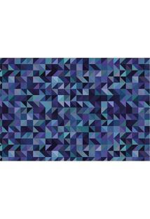 Tapete Transfer Geométrico- Azul Escuro & Verde Águatapetes Junior